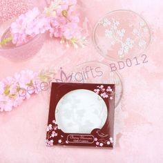 Free Shipping 100pcs=50box Cherry Blossoms Frosted Glass Coasters wedding gifts BD012 valentine's day gifts              http://aliexpress.com/store/product/Free-Shipping-100box-Pink-Flip-Flop-Bottle-Opener-wedding-bomboniere-WJ058-B/513753_1719869702.html  #weddingfavors #weddingideas #partydecoration #beachparty #summerparty #souvenirs #beterwedding  #bomboniere