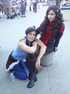 Awesome Legend of Korra cosplay - Korra and Asami Sato.