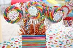 Colorful 1st Birthday | CatchMyParty.com