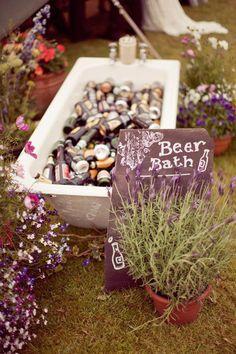 Fun idea for drinks at a summer wedding - beer bath Bush Wedding, Tipi Wedding, Marquee Wedding, Farm Wedding, Summer Wedding, Rustic Wedding, Wedding Vows, Garden Wedding, Wedding Reception