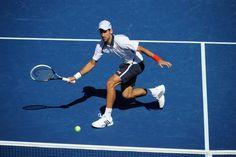 Novak Djokovic (SRB)[2] in action against David Ferrer (ESP)[4] in the Men's Semifinal of the 2012 US Open. - Andrew Ong/USTA