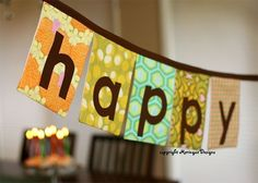 Handmade party banners - Try Handmade