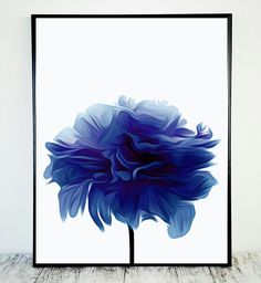 Royal Blue Printable, Royal Blue Decor Printable Flower Royal Blue Flower Print Lapis Lazuli Printable Azul Decor Art Gift Instant Download