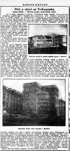 Lidové noviny, 7.6.1930, s. 4 Hospitals, Historia