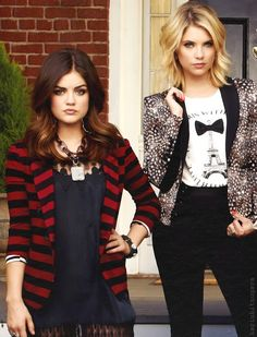 Lucy Hale and Ashley Benson from Pretty Little Liars
