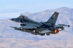 / Photo takes off by Darek Siusta Airplane Fighter, Fighter Aircraft, Military Jets, Military Aircraft, Air Fighter, Fighter Jets, F 16 Falcon, Cruise Missile, Jet Plane