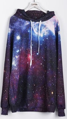 This print is so amazing, we all love it. A big world is taken away by your youth and fashion.You must be dazzling with this special Space Travel Hooded Sweatshirt. Come over for more fashion at Cupshe.com