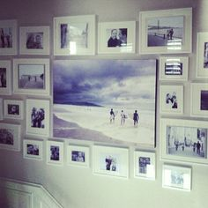 family photo wall gallery we did for a #sandiego client