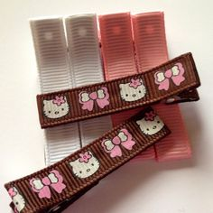 Hello Kitty Clips With Matching Color Clips