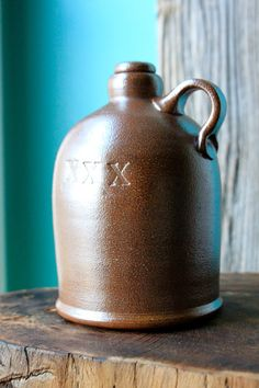 Handmade Salt-Fired XXX Whiskey Jug - Limited Edition