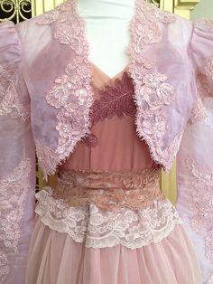blush & nude beaded organza alencon lace door mermaidmisskristin, $88.00