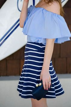 Spring and Summer Inspiration | A lovely combo in blue #springfashion #summerstyle #outfitideas