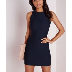 """Navy blue bodycon dress Bodycon dress that is perfect for a night out or for a day in the office. Has never been worn or tried on. Still has tags. approx length 84cm/33"""" Missguided Dresses Mini"""