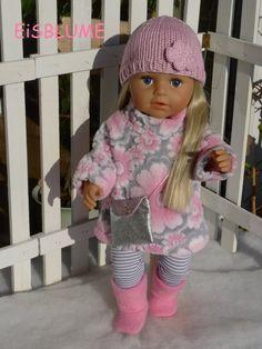 Kleidung & Accessoires zu Ostern Puppenkleidung Baby Born Eule Blumen so süß 43cm NEU Handarbeit