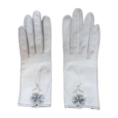 Hermes Vintage Embroidered Gloves 1961 | From a collection of rare vintage gloves at https://www.1stdibs.com/fashion/accessories/gloves/