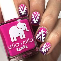 Discover recipes, home ideas, style inspiration and other ideas to try. Hair And Nails, My Nails, Nail Polish Style, Tribal Nails, White Acrylic Nails, Chic Nails, Gradient Nails, Fabulous Nails, Easy Nail Art