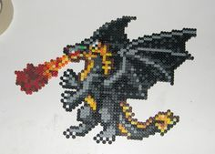 Heroes of Might and Magic black dragon sprite by Bladespark