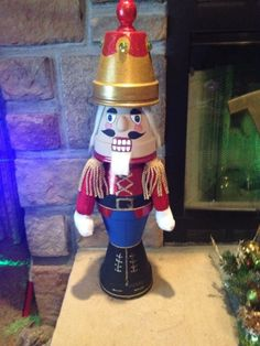The nutcracker I made with flower pots. I changed it up from the original pattern found on the internet to make it more 3D