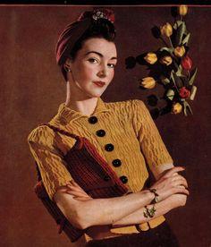 Spring Honey Jumper and Hand Bag  - Vintage Knitting Pattern PDF