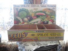 Antique seed box
