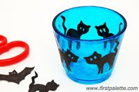 Step 4c Halloween Stained Glass Candle Holder craft