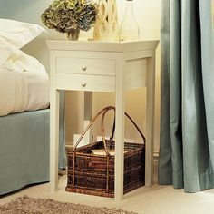 Save 25% on our Gustavian Bedside Table. If you need storage underneath our Buttermilk Gustavian Bedside Table is the perfect choice, complete with two useful drawers. #oka #offer #bedside #table