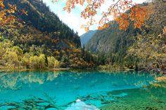 Jiuzhaigou Valley - UNESCO World Heritage Site - 1 hour flight north of Chengdu