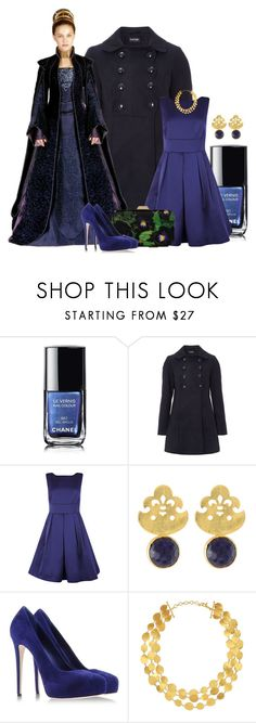 """21st Century Padme Amidala"" by ameve ❤ liked on Polyvore featuring Chanel, Coast, toosis, Givenchy, Le Silla and Gurhan"