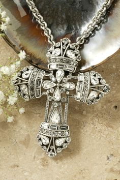 Large Neo Renaissance Clear Crystal Cross Pin Pendant – Celebrate Faith