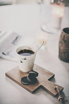 Cafe e oreo, melhor impossível