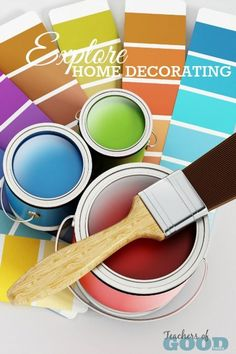 Explore Home Decorating - Part of the 31 Days of Exploring Free Afternoon Activities - a collection of hands-on activities and crafts that open up the world of education through design and DIY ideas. | www.teachersofgoodthings.com