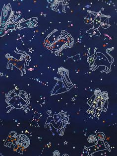 The space trend morphs into celestial and constellation prints