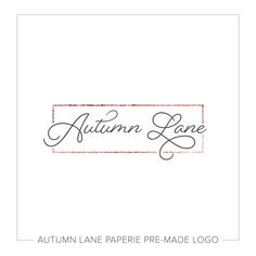 Premade Logo Design Rectangle Logo by AutumnLanePaperie on Etsy