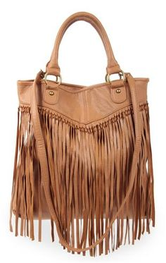 Deb Shops #fringe #handbag with two handles and cross body strap   $23.31