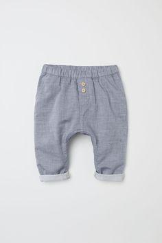 Pantalon en jersey flammé - Bleu/chambray - ENFANT   H&M FR 1
