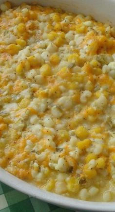 hominy casserole I loved hominy as a kid, so I anxiously waited until I could dig into this recipe. Chilies add a kick to this creamy and delicious side dish. It will be a great addit Hominy Casserole, Casserole Dishes, Casserole Recipes, Hominy Recipes, Vegetable Recipes, Corn Recipes, Cookbook Recipes, Cooking Recipes, Mexican Food Recipes