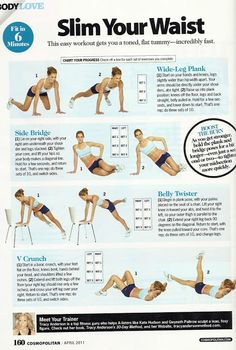 [ domineau//blogspot ]: Exercises for a Slimmer Waist and Thighs Excercise, Abs, Exercise, Exercise Workouts, Ejercicio, Workouts, Fitness, Exercises, Fit Abs
