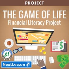 The Game of Life – Financial Literacy Project – Critical Thinking / Problem Solving Skills, Communication Skills, Social Skills, Project Management Skills, Ethical / Civic Responsibility What Is It Really Like To Earn And Manage Your Own Money? It's time Consumer Math, Real Life Math, High School Activities, Math Projects, Financial Literacy, Financial Planning, Literacy Activities, Physical Activities, Communication Skills