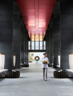 featurette Masters lead 10 most characteristic Park Hyatt hotel design Spa Interior, Lobby Interior, Interior Architecture, Sanya, Hotel Lobby, Hotel Corridor, Public Hotel, Lobby Reception, Ceiling Treatments