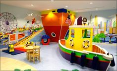 Interesting Kids Playroom Ideas For Your Children: Awesome Kids Playroom Ideas With Ceiling Lights