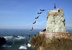 Mazatlan cliff divers... amazing and graceful feats of daring