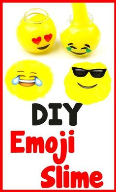 DIY Crafts: How To Make Emoji Slime - DIY Slime with 3 Ingredients! Learn how to turn a basic DIY slime recipe into a fun slime inspired by Emoji's. In this easy DIY craft video tutorial learn how t(How To Make Slime) Easy Diy Crafts, Diy Crafts Videos, Fun Crafts, Crafts For Kids, Make Emoji, Emoji Craft, Party Emoji, Slime Craft, Diy Slime