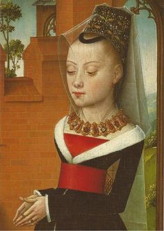 Triptiek van Jan de Witte (detail), Meester Van, 1473, Koninklijke Musea voor Schone Kunsten van Belgie, Brussel