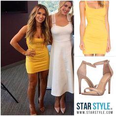 Jessie James Decker wore a Susana Monaco dress and Aldo sandals #jessiejamesdecker Shopping info at www.starstyle.com