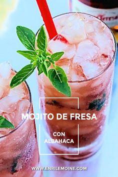 Bebida Mojito, A Little Party, Ron, Mexican Dishes, Sangria, Strawberry, Fruit, Desserts, Strawberry Mojito