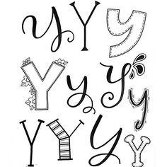 121 Likes, 2 Comments - ) Doodle Fonts, Doodle Lettering, Creative Lettering, Lettering Styles, Brush Lettering, Doodle Art, Graffiti Alphabet, Hand Lettering Alphabet, Calligraphy Letters