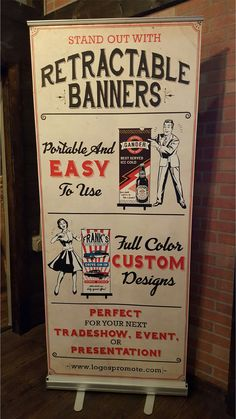 Retractable Banners are effective indoor displays. Banner stands are great for trade shows and other events, point of sale displays or lobbies. Stop by and see ours today! 407-447-5646