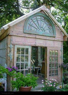 Renée Finberg ' TELLS ALL ' in her blog of her Adventures in Design: Backyard Sheds , Potting Sheds, Backyard Offices & Studios