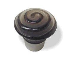 """Betsy Fields Glass Knob - Smoke Swirl 1-3/8"""" CB-PBF450Y-TAU-C"""