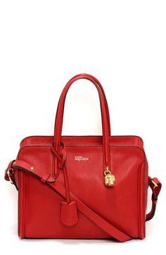 Alexander McQueen 'Padlock - Small' Calfskin Duffel Bag available at #Nordstrom